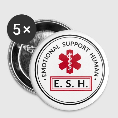 Emotional Support Human - Buttons klein 25 mm