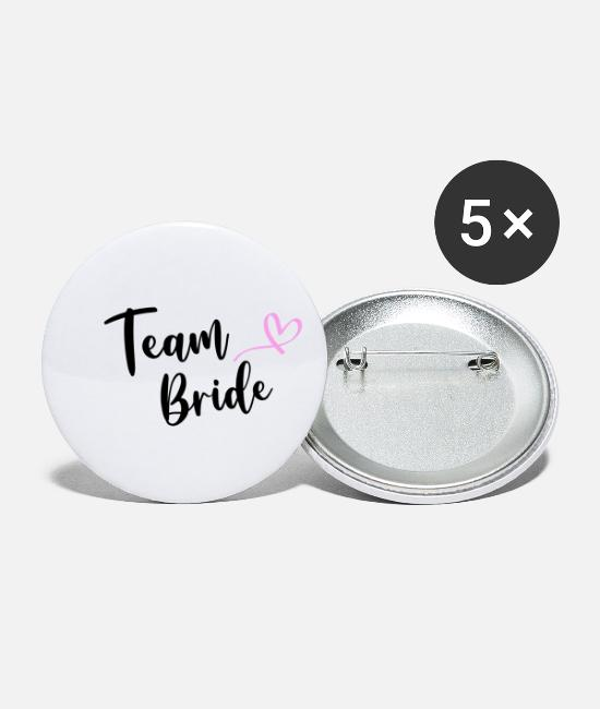 Bride Buttons - Team Bride Bride Mask JGA Party makeshift mask - Small Buttons white