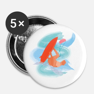 Kiteboard kiteboard - Buttons/Badges lille, 25 mm