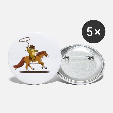 Cowboy sloth - Small Buttons