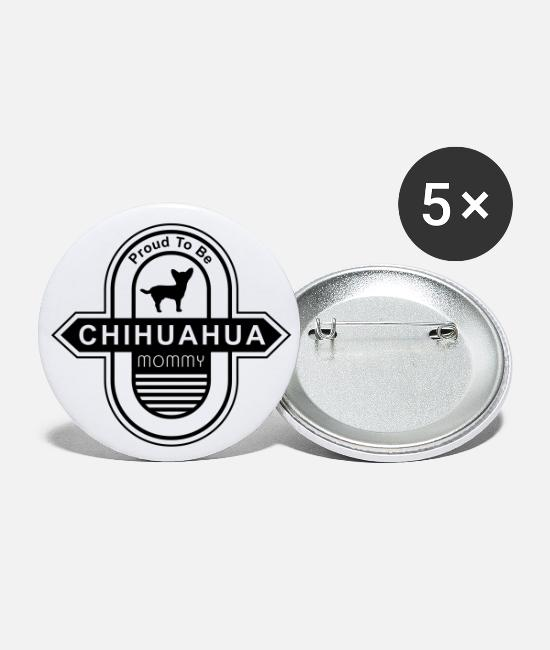 Cool Cool Cool Buttons - Chihuahua Dog Mommy | Dog mom dog owner - Small Buttons white