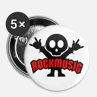 Metal rock music heavy metal - Badge petit 25 mm