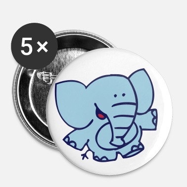 Little Elephant by Cheerful Madness!! - Buttons small 25 mm