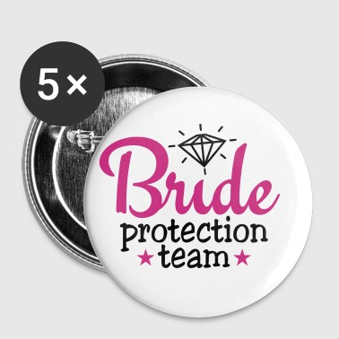 bride protection team 2c / bride security  - Buttons klein 25 mm