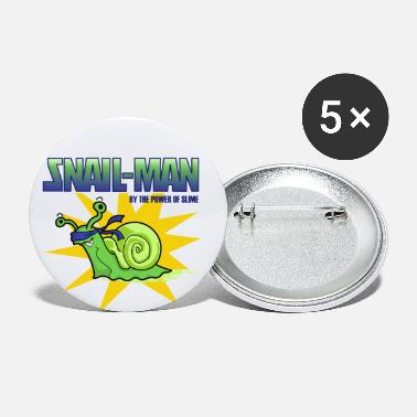 Snail-Man - by the Power of Slime - Small Buttons