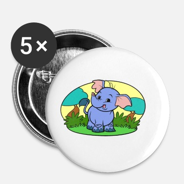 Collections Tiny Elephant Art Collection - Buttons klein 25 mm (5er Pack)
