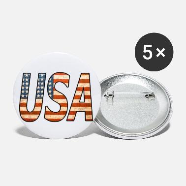 Kiss UNITED STATES! Great USA lettering! Great gift idea! - Small Buttons