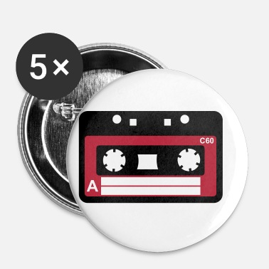 Tape Kassette, Tape, Retro Tape - Buttons/Badges lille, 25 mm