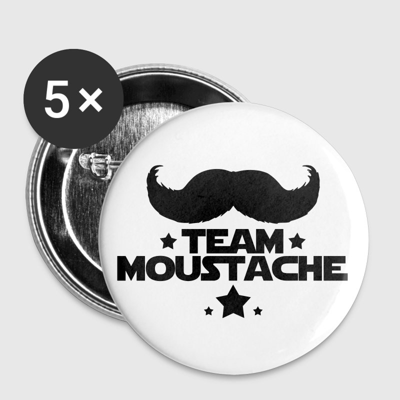 TEAM MOUSTACHE - Badge petit 25 mm