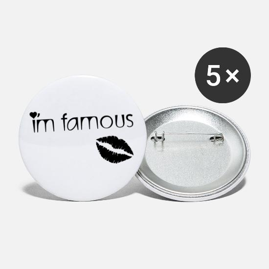 Chic Buttons - I'M FAMOUS - Small Buttons white