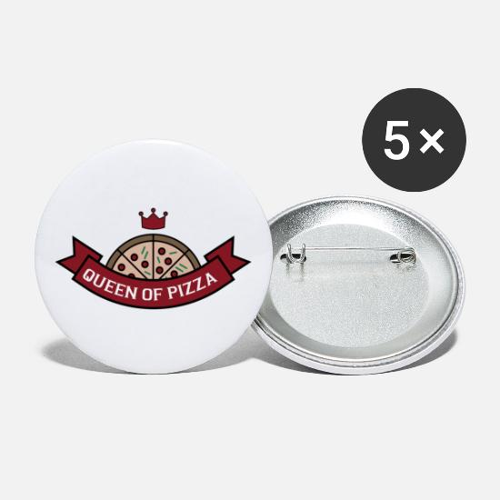 Gift Idea Buttons - Pizza - Small Buttons white