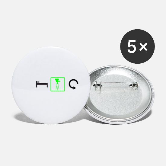 Repeat Buttons - Eat - Sleep - Cinema - Repeat - Small Buttons white
