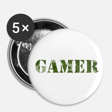 Online Gamer Camouflage Player Console PC Online - Badge petit 25 mm