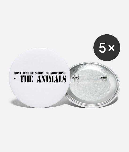 Animal Liberation Buttons - Heb geen spijt. Do Something. - Buttons klein wit