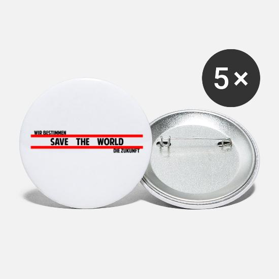Birthday Buttons - Save the World Demo Future Friday for Future - Small Buttons white