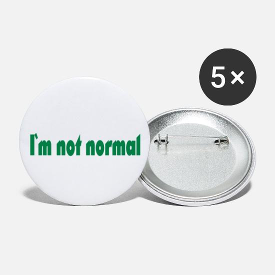 Normal Buttons - I'm not normal - Small Buttons white