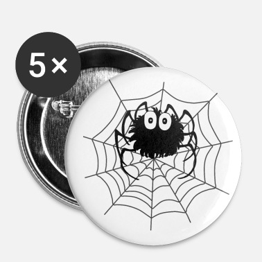 Web Spindel Web Halloween Spider Web Shirt Gave - Buttons/Badges lille, 25 mm