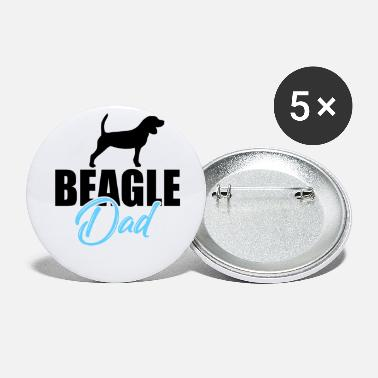 Dad Beagle Dad Dog Dog Dad Dad - Buttons klein