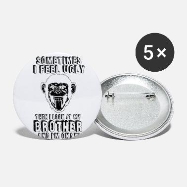 Ugly Best brother Ugly family funny gift - Small Buttons