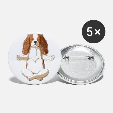 Charles Yoga Cavalier King Charles Spaniel - Small Buttons