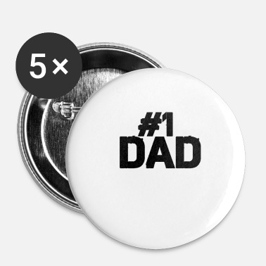 Daddy # 1 Dad Daddy Daddy Daddy # 1 - Buttons klein 25 mm (5-pack)