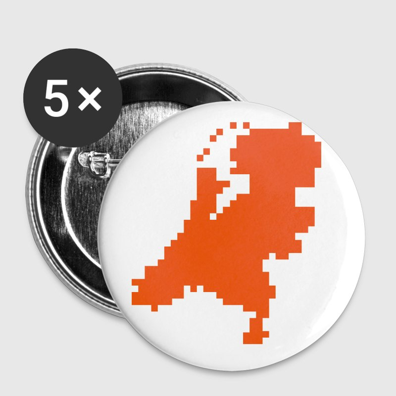 Nederland - pixel - kaart - holland - Buttons klein 25 mm