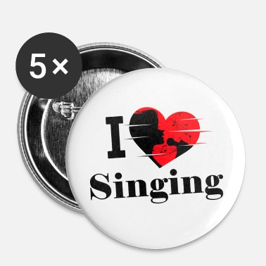 Chanteur J'aime chanter / chanter / chanter - Badge petit 25 mm