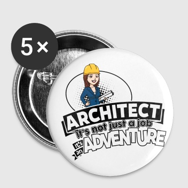 Female Architect - Adventure - Buttons small 25 mm