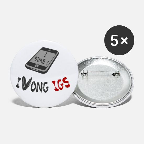 Christmas Present Buttons - I bims - your phone - Small Buttons white
