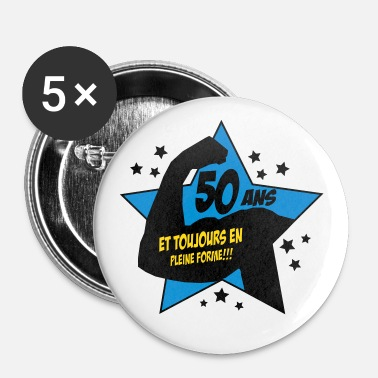 Established 50ans,anniversaire,formes,citations - Badge petit 25 mm