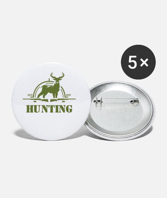 Hunt Buttons - Hunting hunters hunt - Small Buttons white