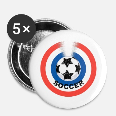 Bleu Blanc Rouge Football bleu blanc rouge - Badge petit 25 mm