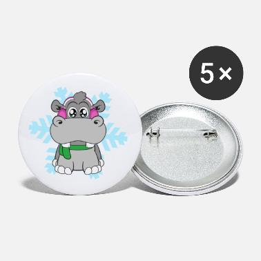 Winter Scene Winter Cold Ice Crystal Snowflake - Small Buttons