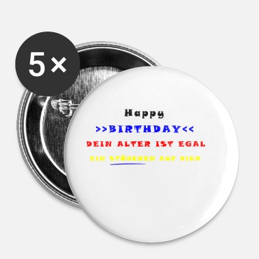 Happy Birthday HAPPY BIRTHDAY - Buttons/Badges lille, 25 mm