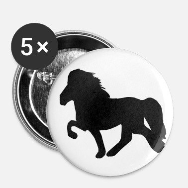 Aimant Cheval islandais: Cheval islandais Poney Merch - Badge petit 25 mm