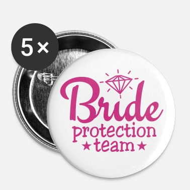 bride protection team 1c / bride security  - Buttons klein 25 mm