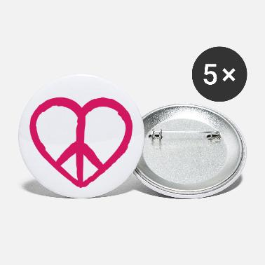 Anti Nuclear Power love peace peace, anti nuclear power no nuclear - Small Buttons