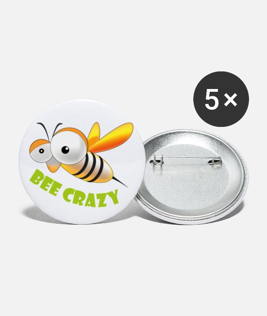 Wacky Buttons - Bee crazy - Small Buttons white