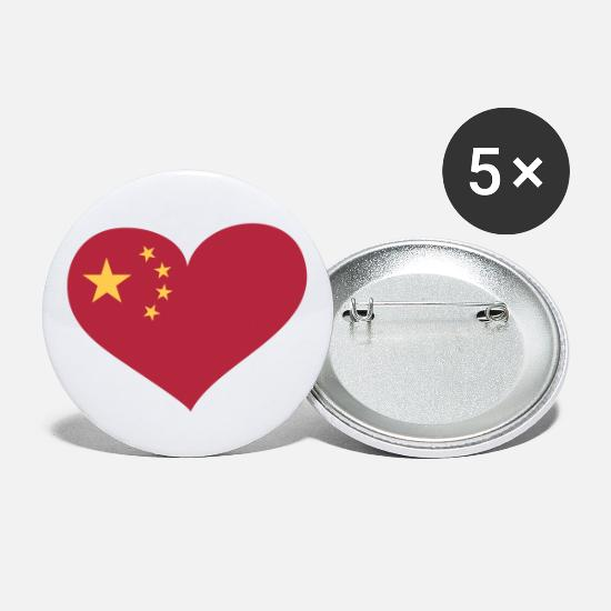 Beijing Buttons - China Herz; Heart China - Small Buttons white