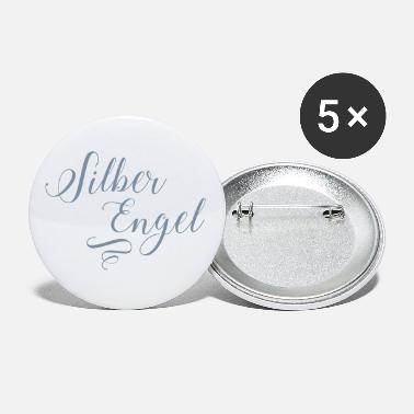 Silver Silver angel in silver metallic - Small Buttons