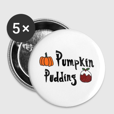 Pudding Pumpkin 5 x Badge Pack - Buttons small 25 mm
