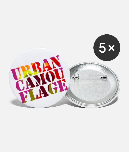 Puzzel Buttons - Urban Camouflage Logo - Buttons klein wit