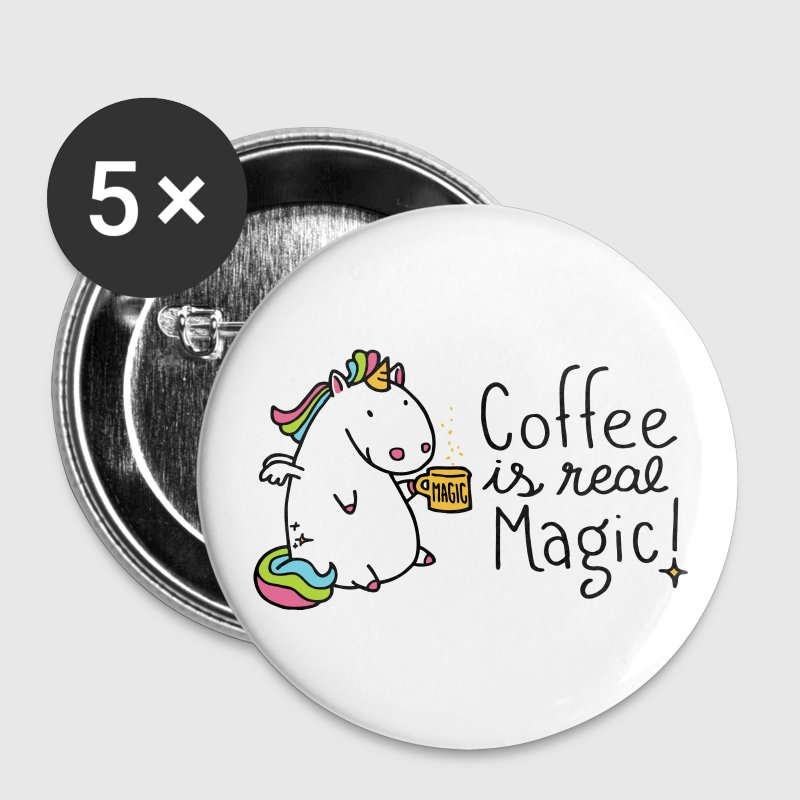 Coffee is real Magic - Buttons klein 25 mm