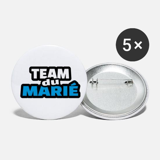 Evg Badges - team du marié (vers.16) - Petits badges blanc