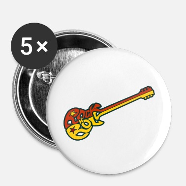 Rock N Roll Rock n 'roll guitar - Spilla piccola 25 mm