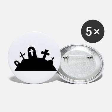 Grave Graves cemetery halloween / graveyard graves - Small Buttons
