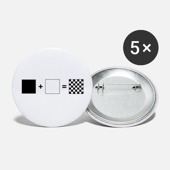 Chess Board Buttons - Black + White = Chess | Chess players - Small Buttons white