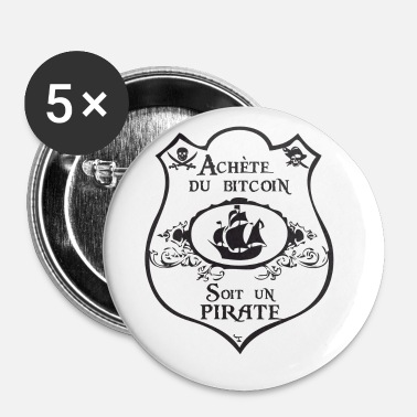 Crest Crest on merirosvo - Rintamerkit pienet 25 mm