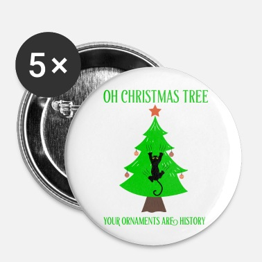 Noel Chat noel arbre de noel noel - Badge petit 25 mm