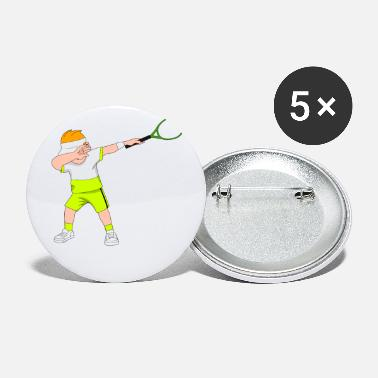 Sportsdans Dabbing Tennis Player - Små buttons